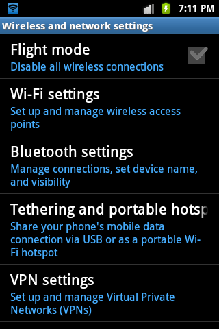 Goto main menu > Settings > Wireless and network settings > tethering