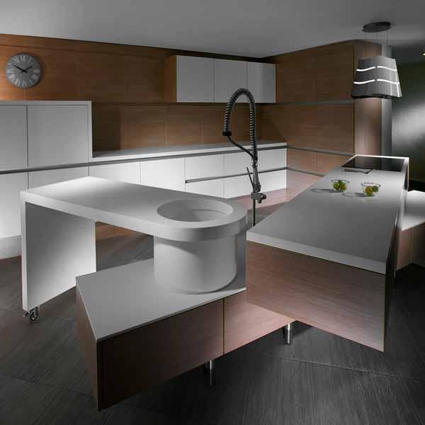 Desain Dapur Kayu Modern Cubello Ice Kitchen dari Amr Designs
