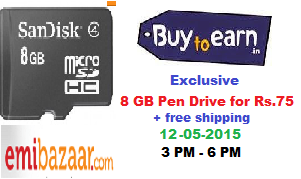 (Expired) Buy 8 GB Class 4 Memory Card for Rs.75 : BuyToEarn