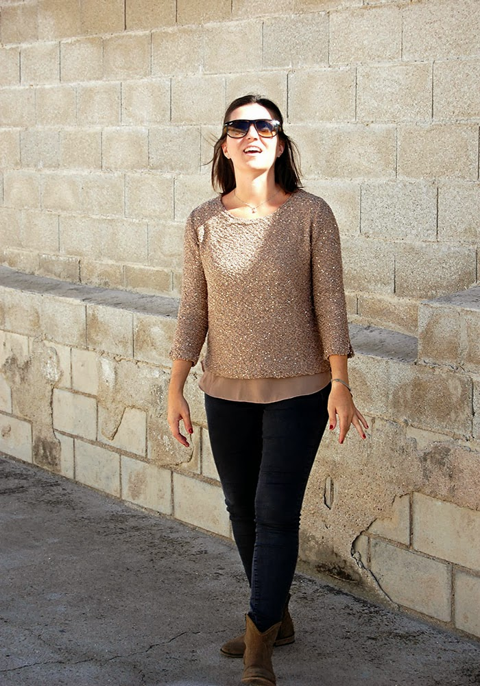Look Real para Mamá Real: Jersey Paillettes