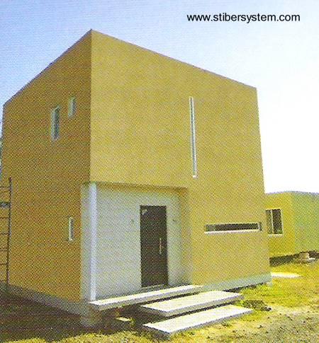 Casa económica en base a sistema modular en Argentina