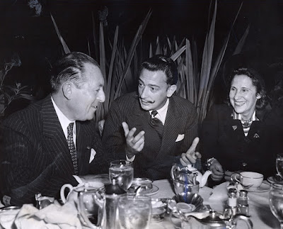 Edmund Lymons, Gala and Salvador Dali, 1942. Courtesy of the San Francisco History Center, San Francisco Public Library.