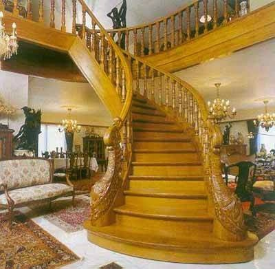 kerala model wooden staircase