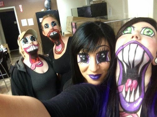 nightmare fodder frightening make up for halloween