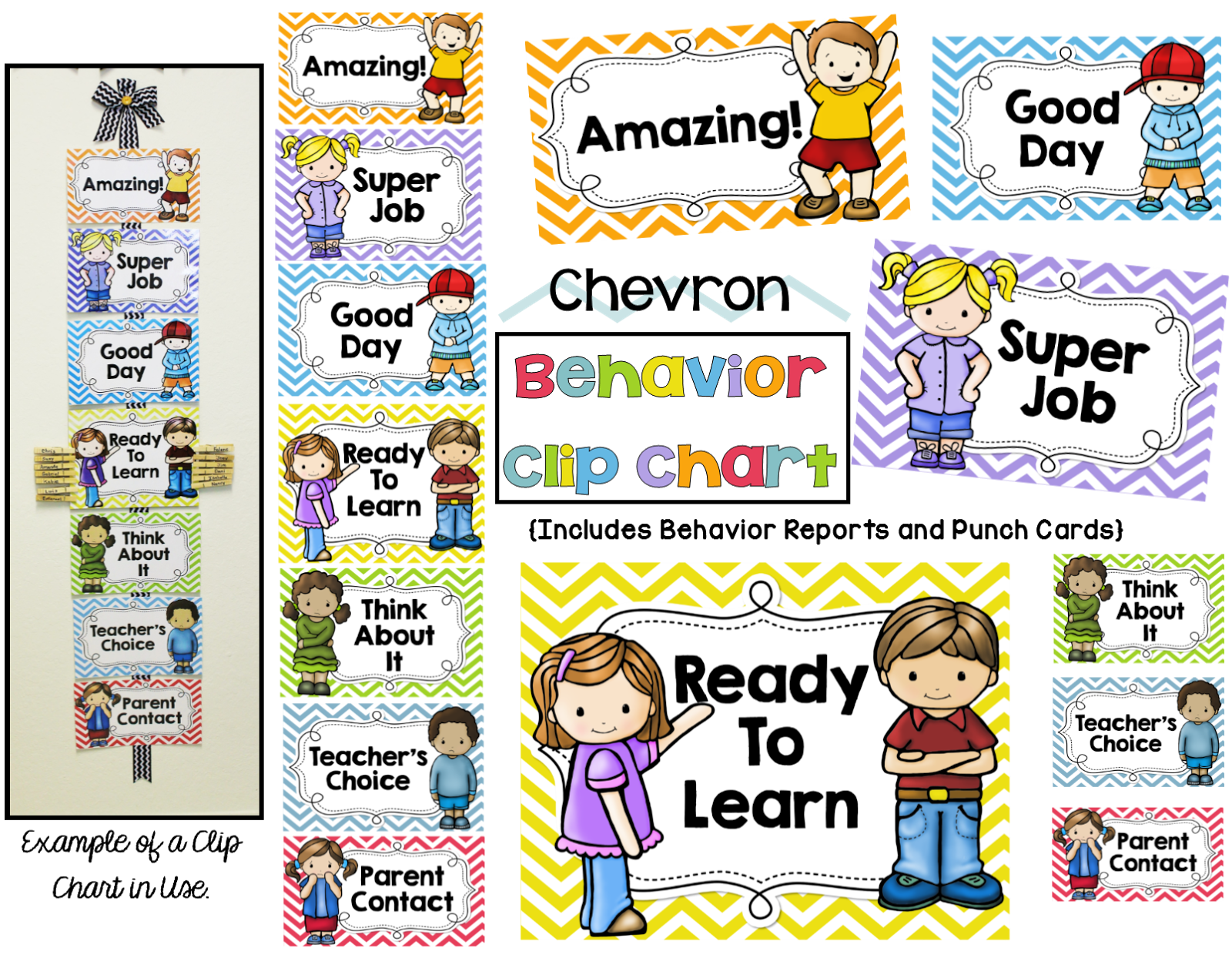 sight word Behavior Reports Clip ipad books Chevron  for with Daily/WeeklyBehavior and  Chart