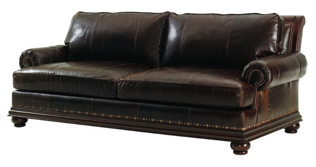 Macy's Leather Sectional Living Room Furniture (5 Image)