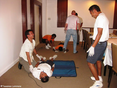 EFR course, Imperial Boathouse, Choengmon, Koh Samui, Thailand recovery position