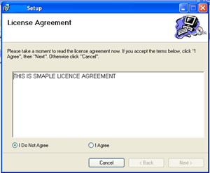Add License agreement in setup project