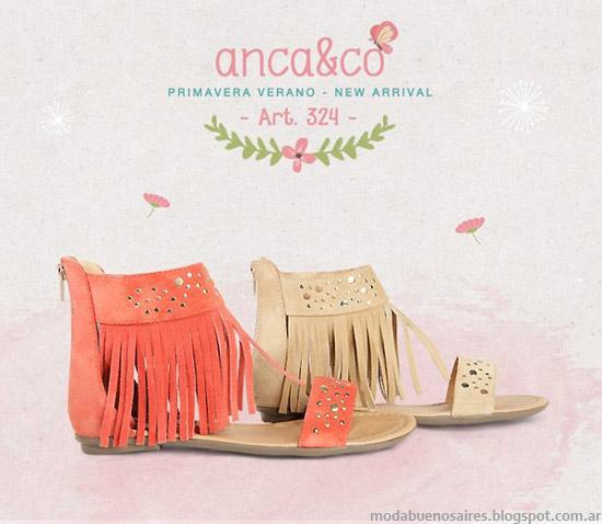 Sandalias 2014 Anca & Co primavera verano 2014 sandalias. Moda sandalias 2014.