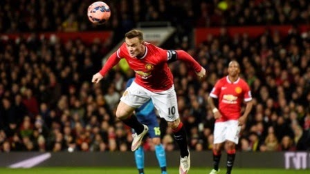 Wayne Rooney Cetak gol ke Gawang Arsenal