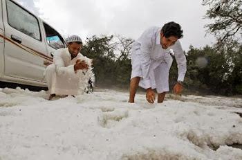 hujan salji melanda Arab Saudi petanda jelas akhir zaman
