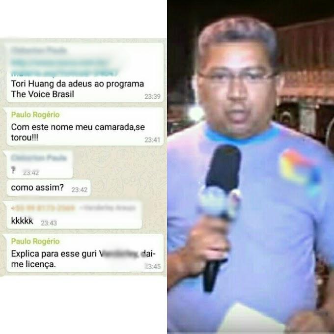 IMORAL: Paulo Rogério da Tv Sinal Verde hostiliza cantora caxiense que participou do THE VOICE BRASIL.
