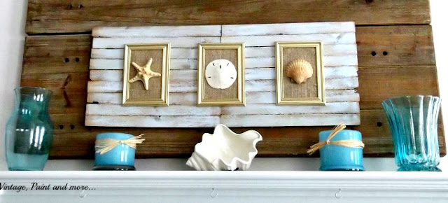 Vintage, Paint and more... beach inspired wall art made from shims
