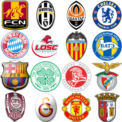 Uefa Football Club Logos Champions league teams groups
