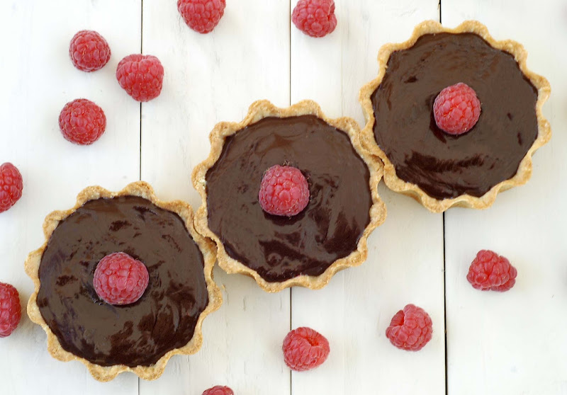 Chocolate and Raspberry Tarts