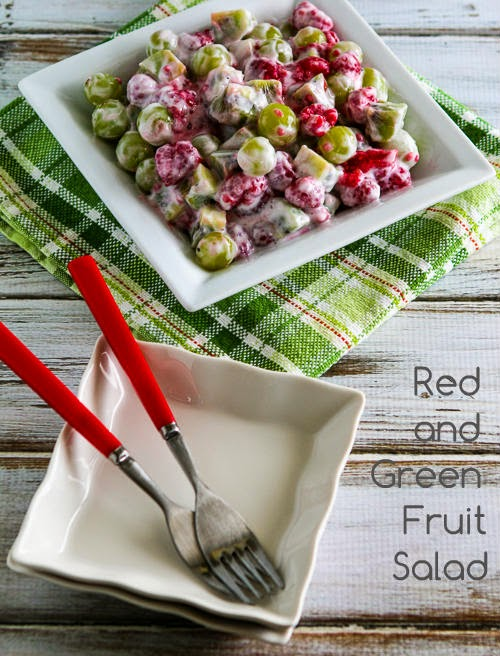 Easy Recipe for Red and Green Fruit Salad found on KalynsKitchen.com