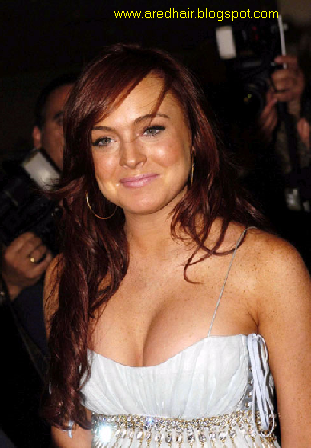 lindsay lohan hair colour