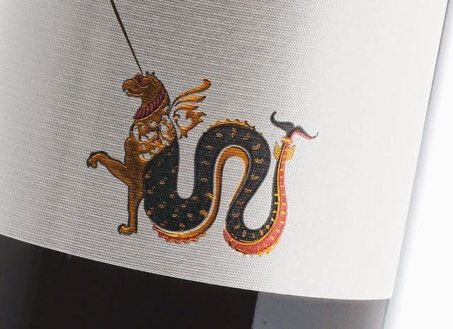 etichetta illustrazione san giorgio drago paolo uccello design packaging marketing