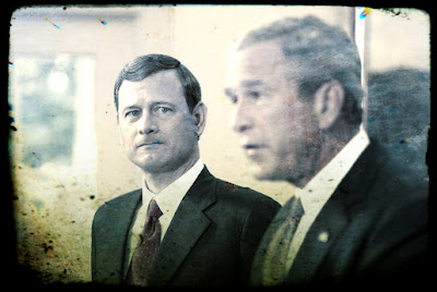 John Roberts and George W. Bush