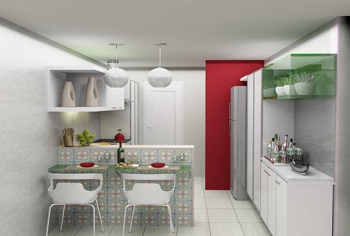 decoracao rustica kitnet : decoracao rustica kitnet:Cozinha Americana Pequena E Simples