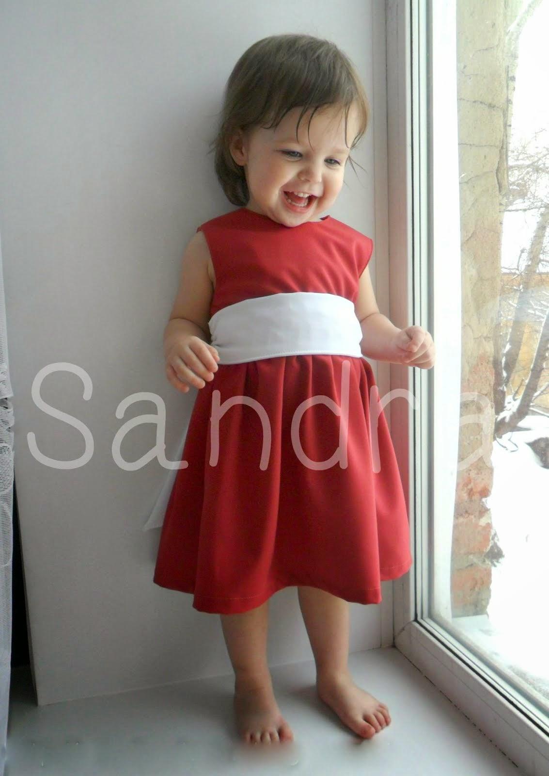 МК. Платье для девочки с двойной кокеткой и молнией