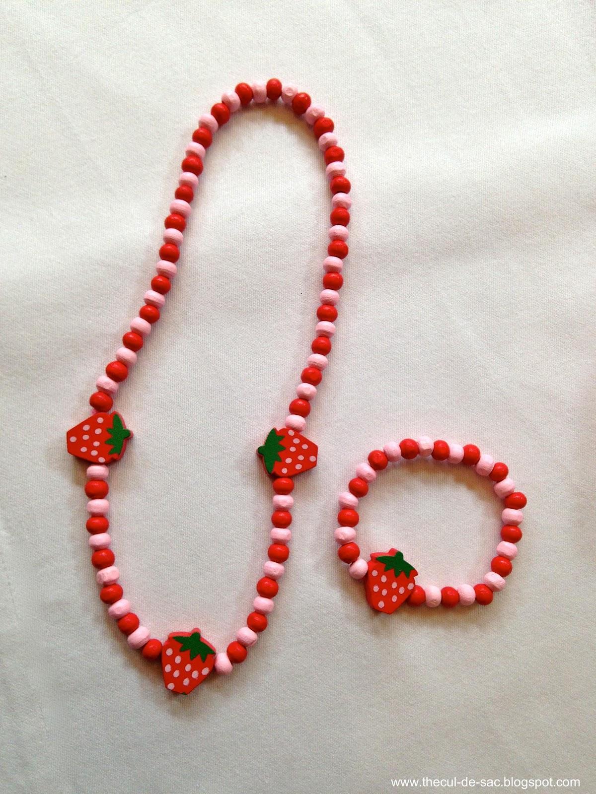 The cul de sac strawberry shortcake birthday party for Strawberry shortcake necklace jewelry