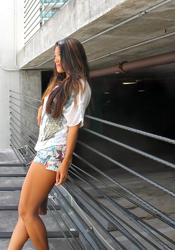style by lynsee, lucky magazine, seventeen magazine, cosmopolitan, zara, vanity fair, teen vogue, spring fashion trends, spring fashion 2014, la mer collections watch, zara top, zara shorts, floral shorts, graphic tee, womens clothing, nine west shoes, miami fashion blogger, independent fashion blogger, new york blogger, fitness blogger, aldo handbag, aldo shoes, what to wear in spring, spring break clothes