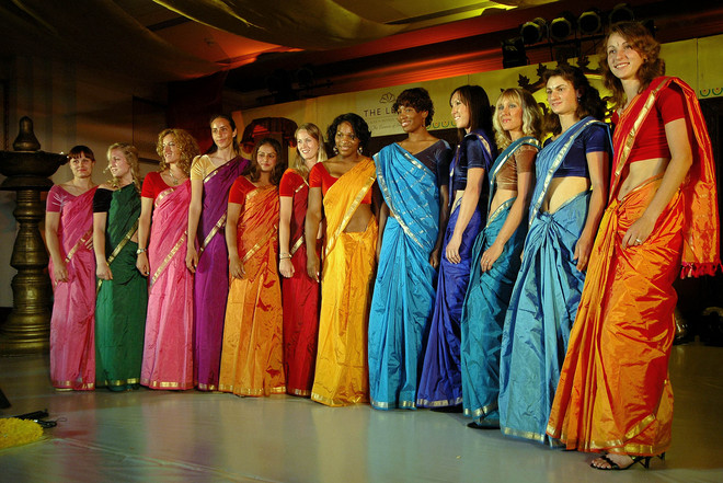 Saree's damaged due to fire