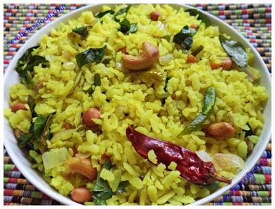 Nimma Atukula Pulihora - Flattened Lemon Rice