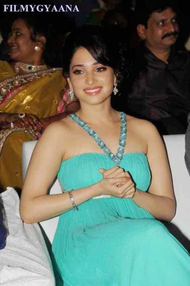 tamanna bhatia green dress photos