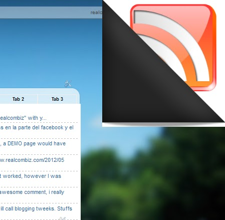 add page peel or flip effect to blogger