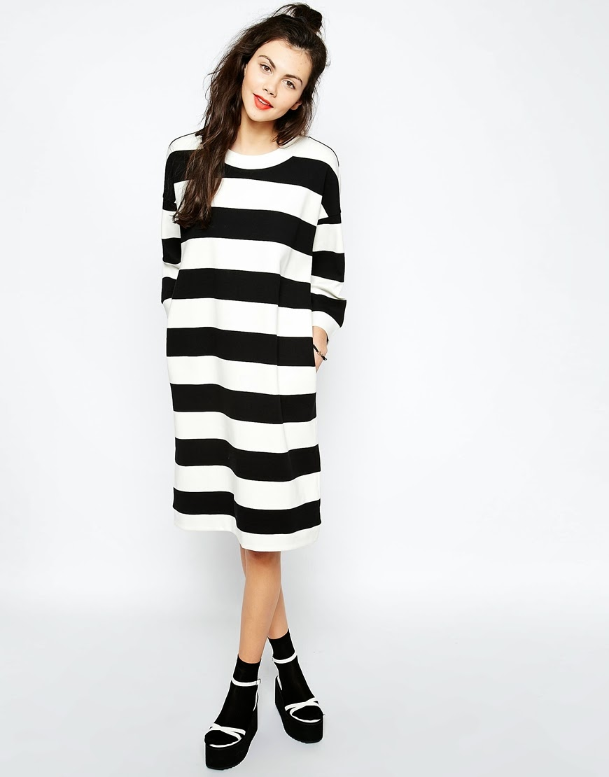 monki stripe dress, striped midi dress,