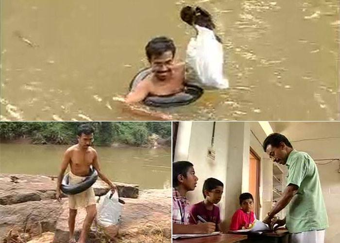 Abdul Mallik - A teacher who swims through a river everyday to get to his students