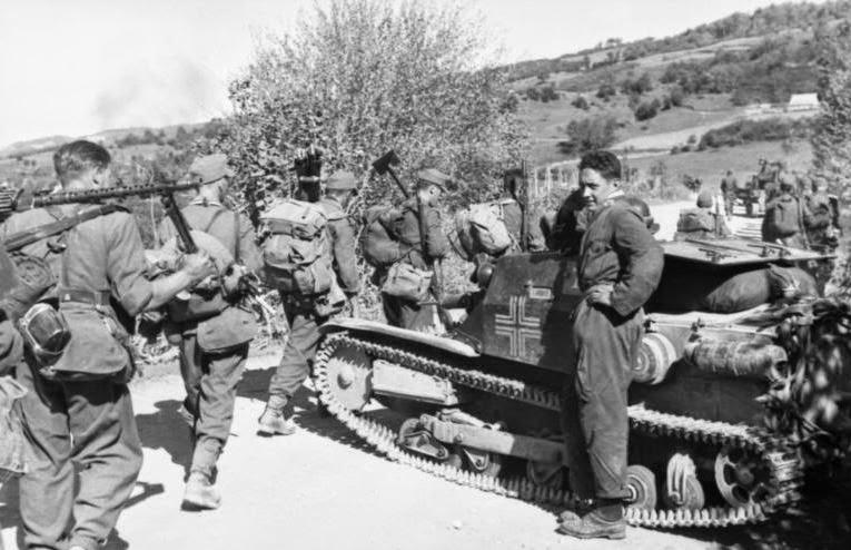German soldiers in Albania.