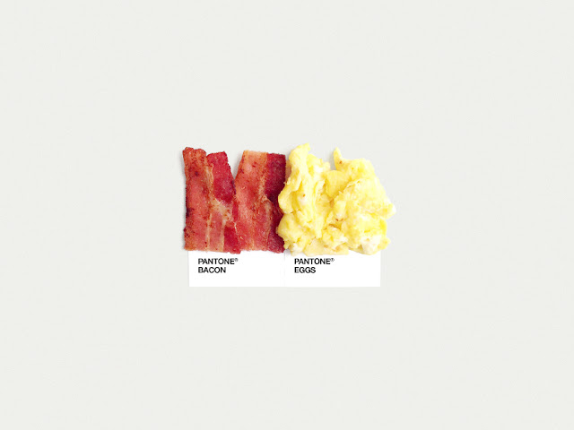 food art pairings david schwen, david schwen designer dschwen, graphic designer new york, pantone food, bacon and eggs