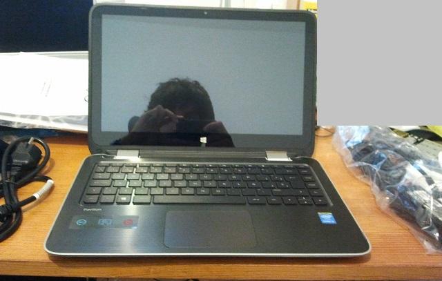 HP Pavilion x360: abierto: teclado destapado