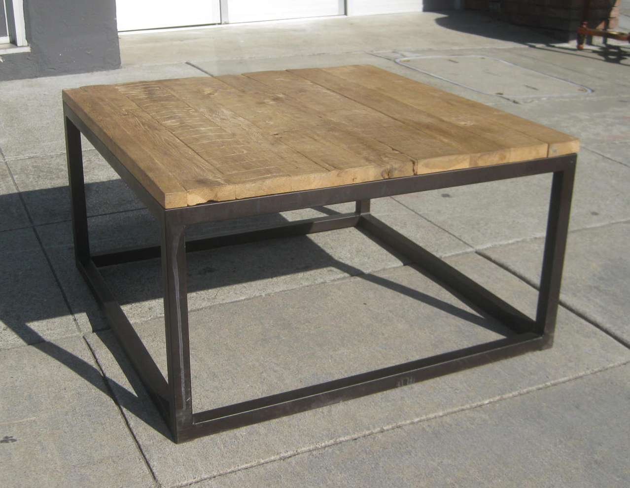 Uhuru Furniture Collectibles Sold Iron And Wood Coffee Table 50