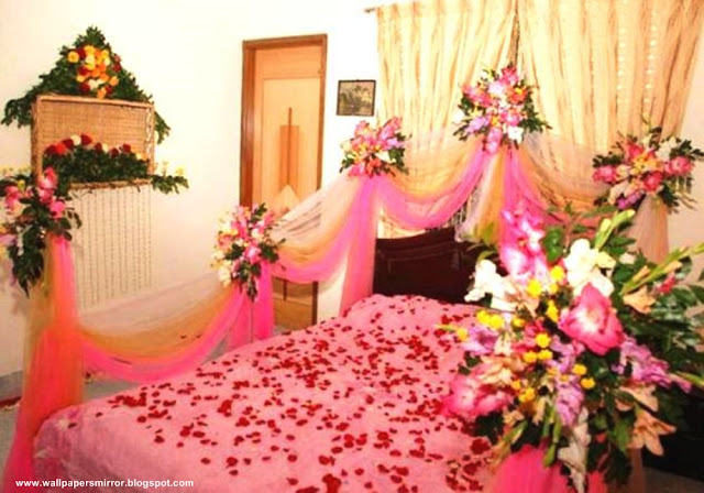 how to decorate the room beautiful for first wedding night