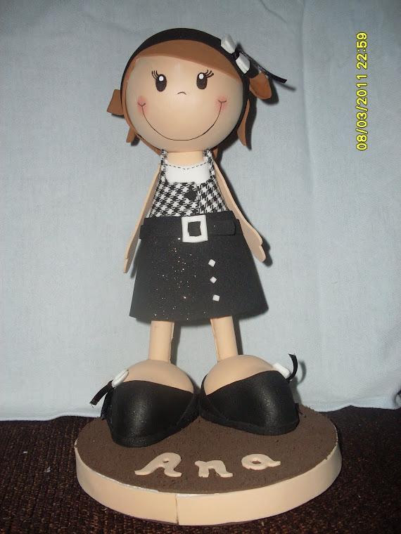 boneca personalizada ANA em E.V.A 3d