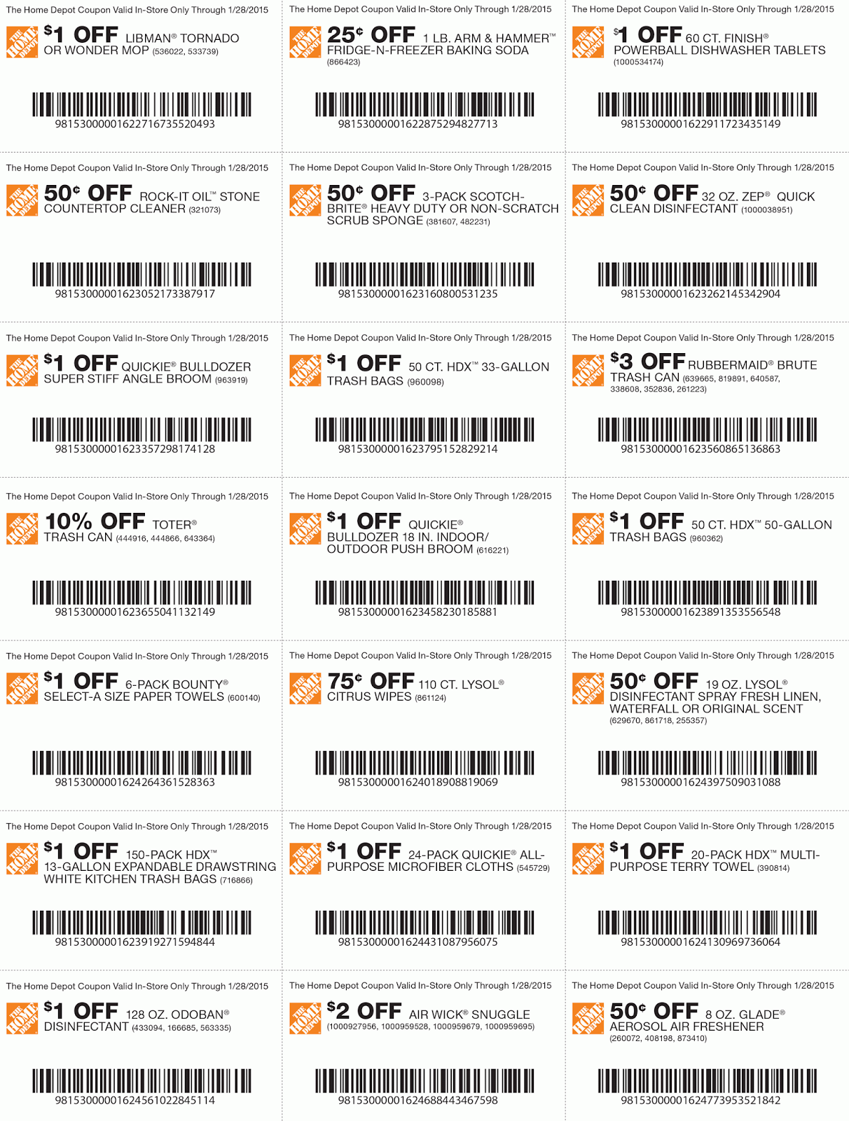 Home depot coupons discounts