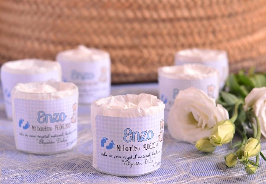 detalles de bautizo velas aromaticas personalizadas