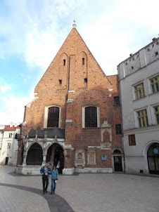 Church of St Barbara  in Krakow old market town square  and founded in the 14th century