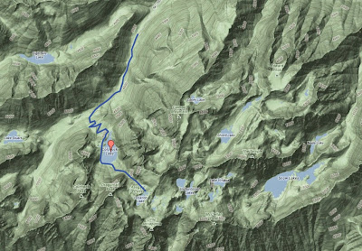 Topo (Google) Map of the Hike