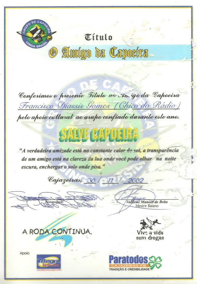 SEMPRE  FUI ASSESSOR  DE DIVERSOS MOVIMENTOS CULTURAIS