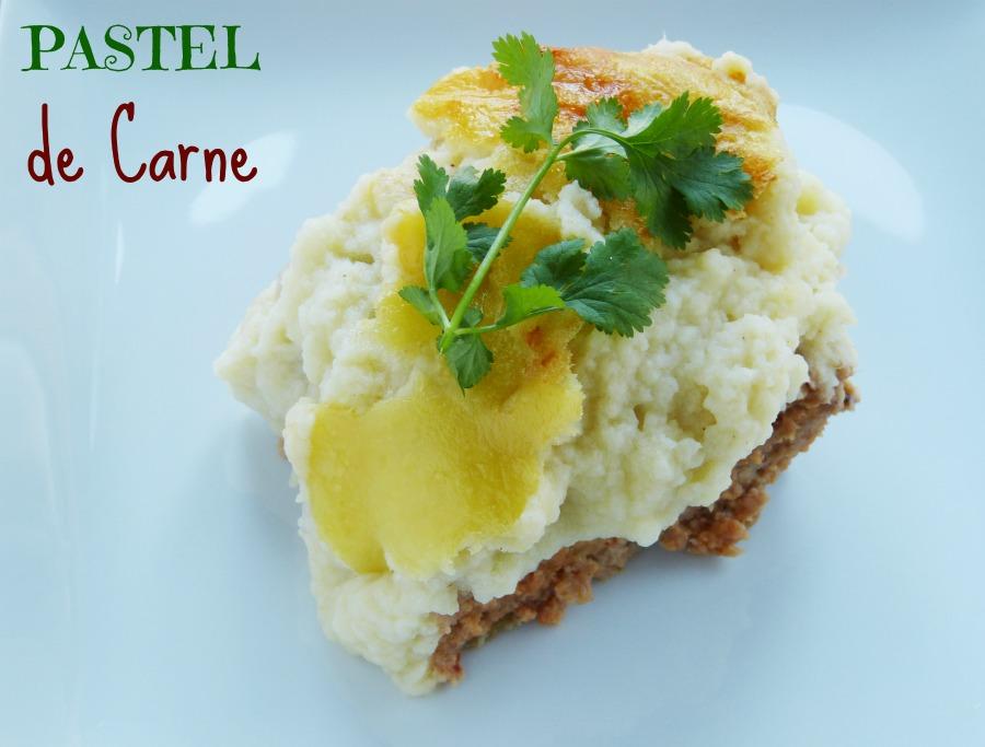 pastel de carne con coliflor y patata