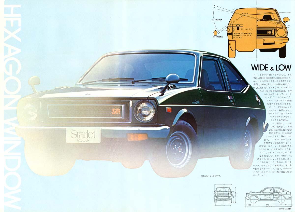 Toyota Starlet wide & low, ciekawostki JDM, broszura