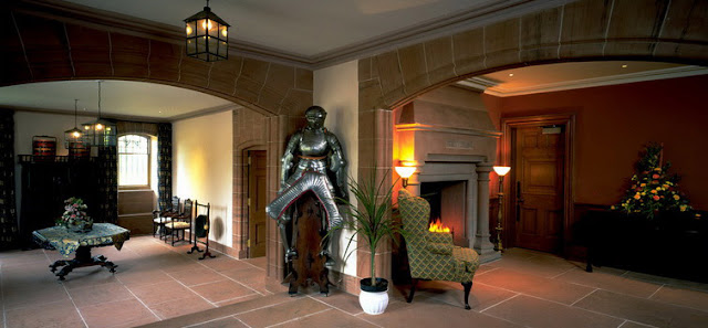 Tower of Lethendy - Hallway with Armour and Fireplace