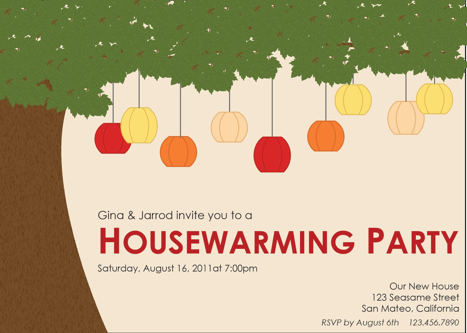 lowercase j design  housewarming party invitation