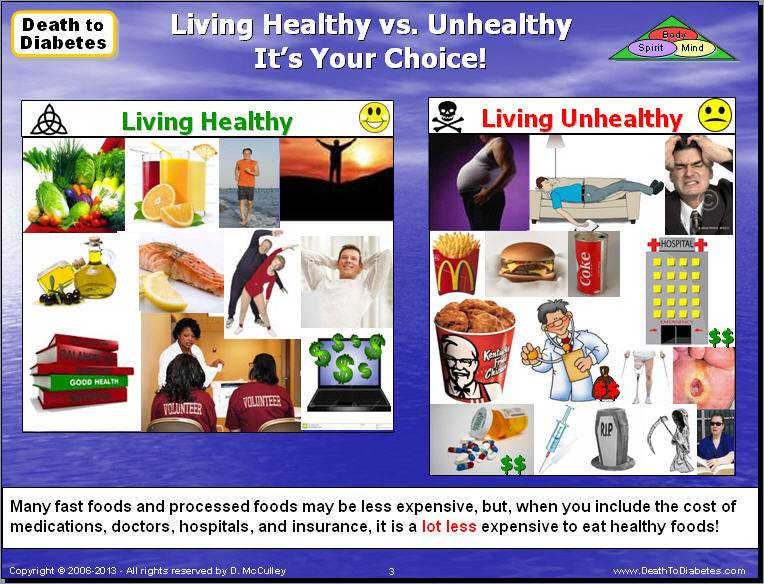 Reverse Defeat Type 2 Diabetes Eating Healthy Vs Unhealthy