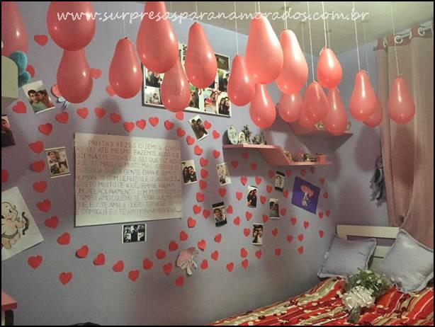 Festa Surpresa No Quarto Do Namorado ~ Pedido de desculpas  Surpresas para Namorados